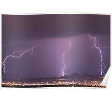 Lightning Monsoon N. Scottsdale Poster