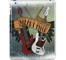 The Music Pitch... Rock'n'Roll and let your guitar, bass and drums rock! (slightly grunge version) iPad Case/Skin