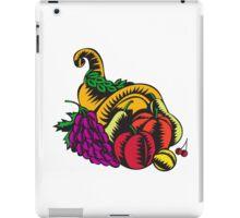 Cornucopia Fruit Harvest Woodcut iPad Case/Skin