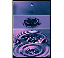 The Dropping of a drip Photographic Print