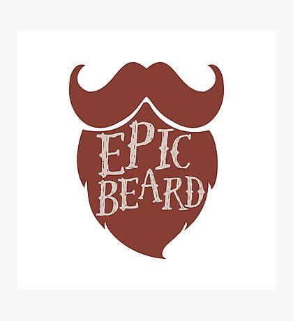 Epic beard red Photographic Print