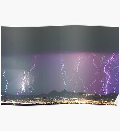 Lightning City Poster
