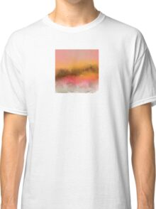 Pink and Gold Landscape Design Classic T-Shirt