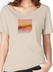 Pink and Gold Landscape Design Women's Relaxed Fit T-Shirt