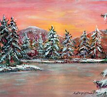 Jane's Winter Cabin by Ave Hurley AH-001-030 by Ave Maria [Cosgriff] Hurley