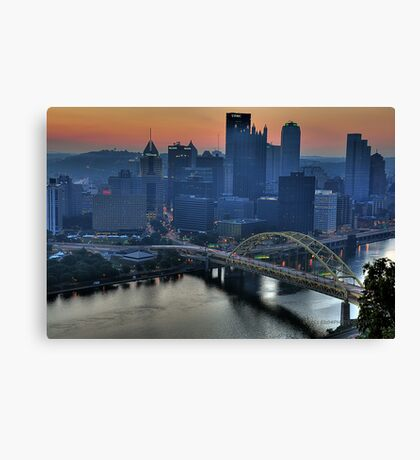 Pittsburgh Revisited VI HDR Canvas Print