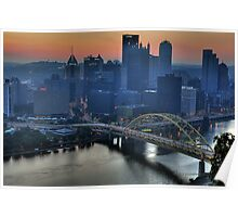 Pittsburgh Revisited VI HDR Poster