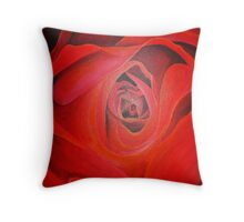 Valentine Red Rose Heart shaped Throw Pillow