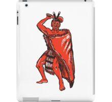 Maori Chief Warrior Holding Patu Etching iPad Case/Skin