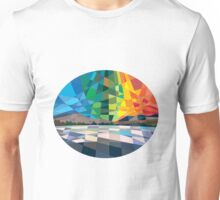 Northern Lights Aurora Borealis Low Polygon Unisex T-Shirt