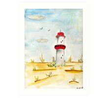 The Leaning Lighthouse Art Print