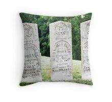 Perry Family Gravestones Throw Pillow