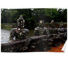 Angkor Thom Bridge - Angkor, Cambodia. Poster