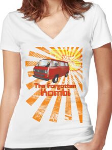 Volkswagen Kombi Tee shirt - T3 the Forgotten Kombi Women's Fitted V-Neck T-Shirt