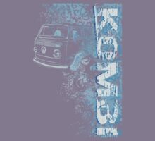 Volkswagen Kombi Tee shirt - Grunge Blue by KombiNation