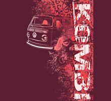 Volkswagen Kombi Tee shirt - Grunge Red Unisex T-Shirt