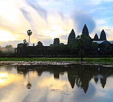Sunrise on Angkor Wat - Angkor, Cambodia. by Tiffany Lenoir