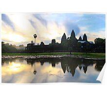 Sunrise on Angkor Wat - Angkor, Cambodia. Poster