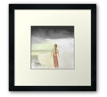 The Woman on the Beach Framed Print