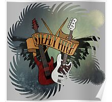 The Music Pitch... Rock'n'Roll and let your guitar, bass and drums rock! (gear rays version) Poster