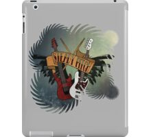 The Music Pitch... Rock'n'Roll and let your guitar, bass and drums rock! (gear rays version) iPad Case/Skin