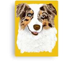 Red Merle Australian Shepherd Dog Canvas Print