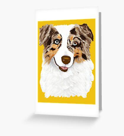 Red Merle Australian Shepherd Dog Greeting Card