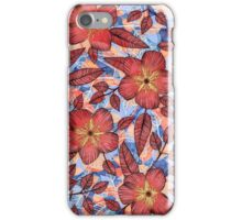 Coral Summer - a hand drawn floral pattern iPhone Case/Skin