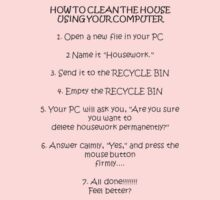 How to Clean Your House Using the Computer by taiche