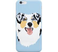 Blue Merle Australian Shepherd Dog iPhone Case/Skin