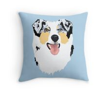 Blue Merle Australian Shepherd Dog Throw Pillow
