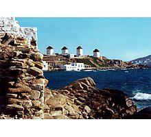 Mykonos Windmills Photographic Print