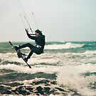 Kite Surfing by Rikko