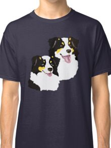 "Black Tri Aussie ""Pair to draw to"" Classic T-Shirt"