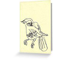 blind birdee 1 Greeting Card