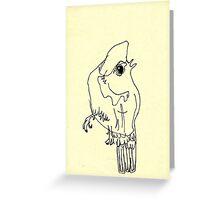 blind birdee 5 Greeting Card
