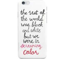 Screaming Color iPhone Case/Skin