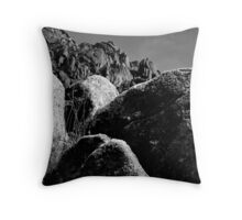 rock pass. ladakh, north india Throw Pillow