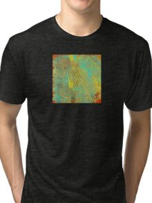 Sunset Sky in Shreds Abstract Tri-blend T-Shirt
