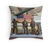 National Museum Of Naval Aviation Statues Of The Past Throw Pillow