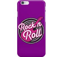 Rock n Roll with punk guitar distressed iPhone Case/Skin