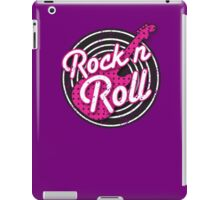 Rock n Roll with punk guitar distressed iPad Case/Skin