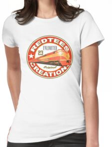 redtees express train Womens Fitted T-Shirt
