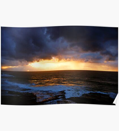 sunrise on a stormy morning Poster