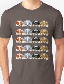 Australian Shepherd Puppies all 4 colors Unisex T-Shirt