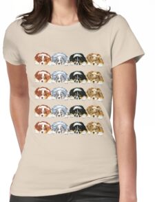 Australian Shepherd Puppies all 4 colors Womens Fitted T-Shirt