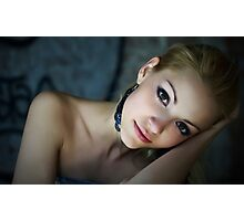 Sensual and Charming loving girl in art portrait Photographic Print