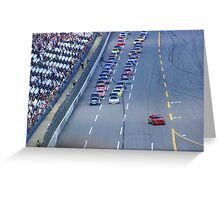 Getting ready to race!! Greeting Card
