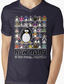 How Many Penguins is Too Many Penguins? Mens V-Neck T-Shirt