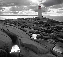 Nova Scotia lighthouse by milton ginos